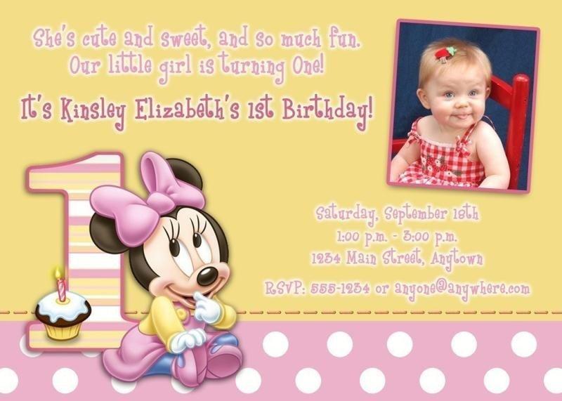 1st birthday invitation wording india