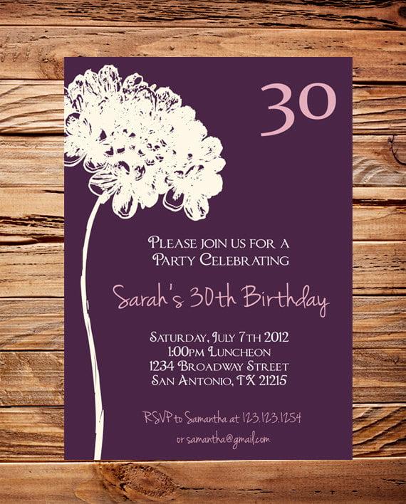 30th birthday bash invitation wording
