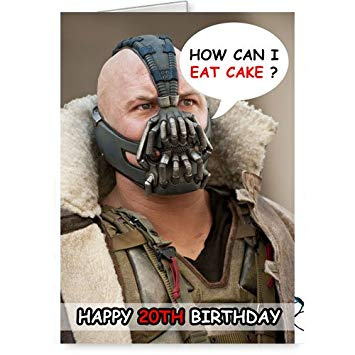 bane batman birthday card