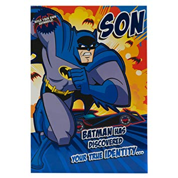 batman birthday card for son