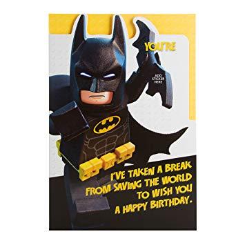 batman birthday card hallmark