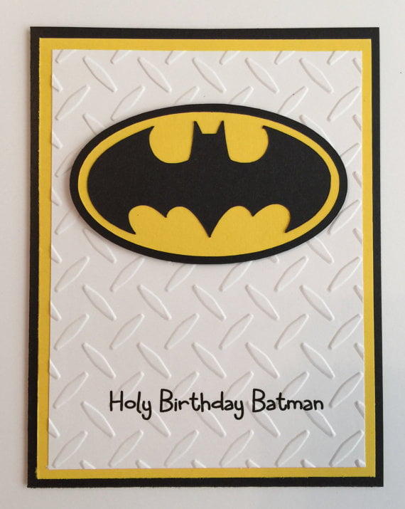 batman birthday card ideas
