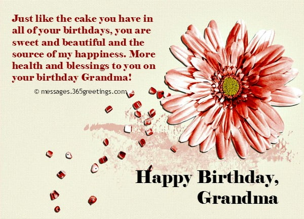 birthday card for grandma from granddaughter