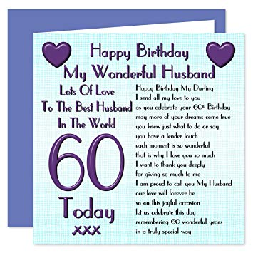 birthday card for husband 60th