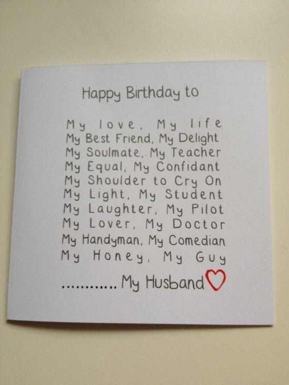 birthday card for husband ideas