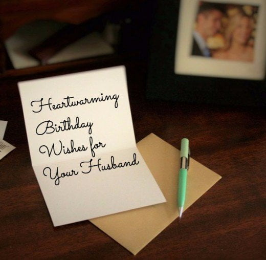 birthday card for husband what to write