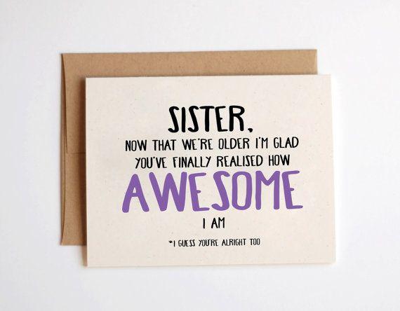 birthday card ideas for sister