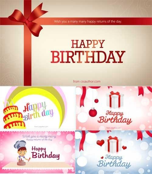 Birthday Card Template Photoshop