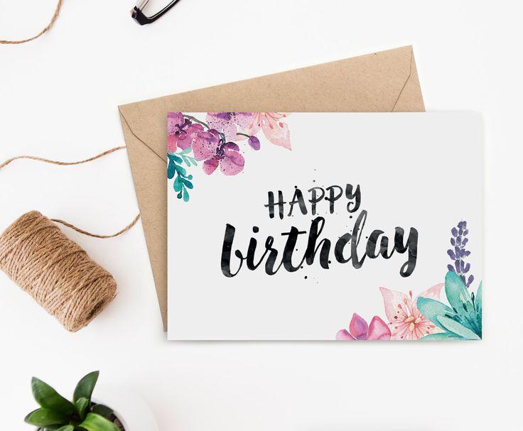 birthday card template pinterest