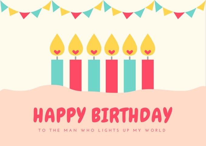 birthday card templates free