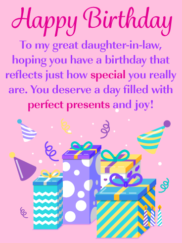 birthday cards for a daughter in law
