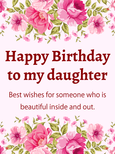 birthday cards for a daughter