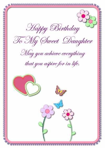 birthday cards for daughter sayings