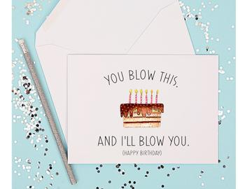 birthday cards for him etsy