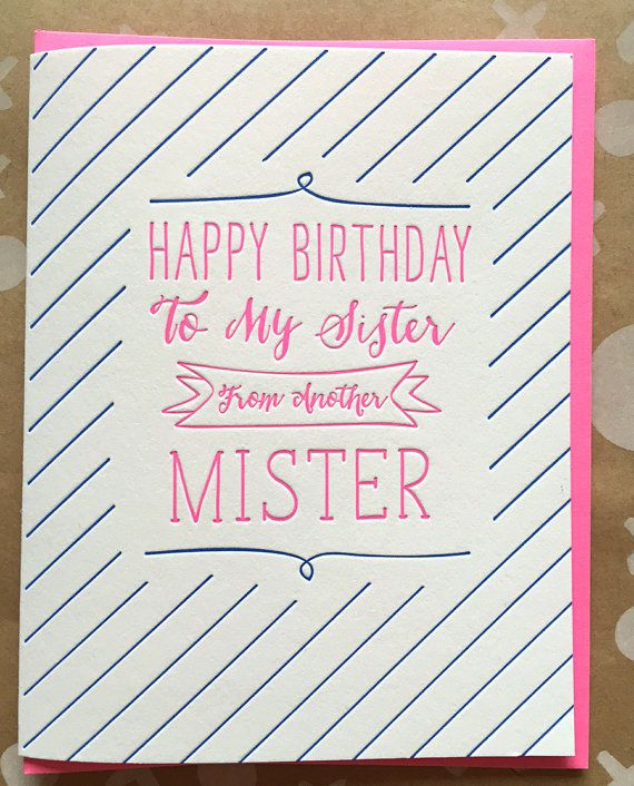 birthday cards for sister friend