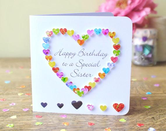 birthday cards for sister handmade