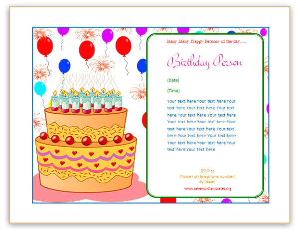birthday cards to print add picture