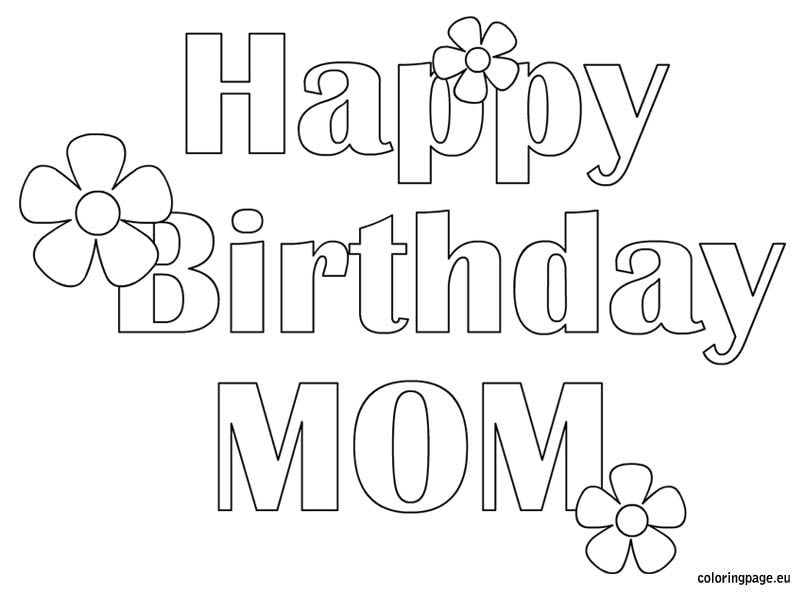 birthday cards to print and color for mom