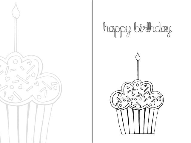 birthday cards to print black and white