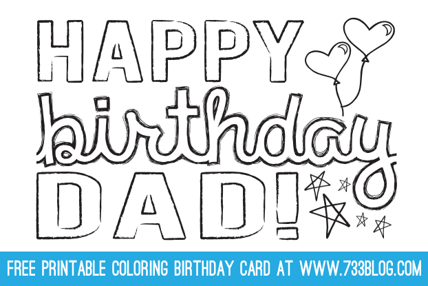 birthday cards to print for dad