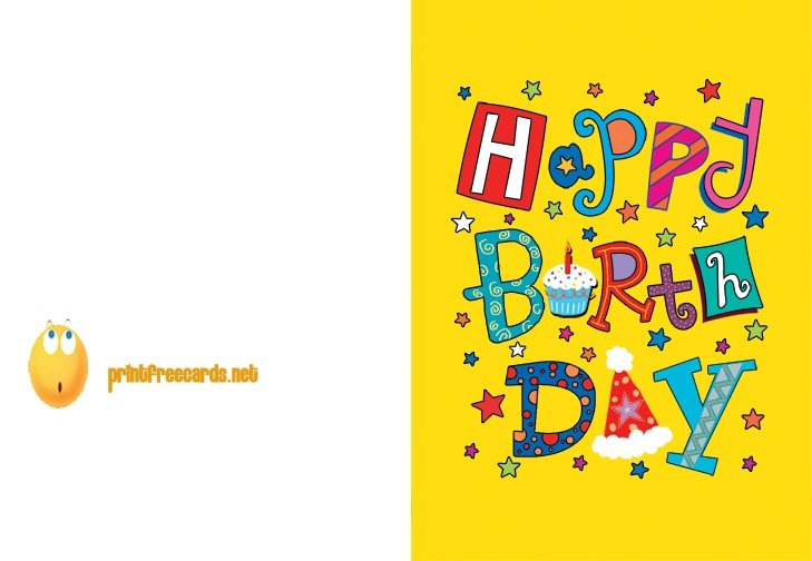 birthday cards to print out free online