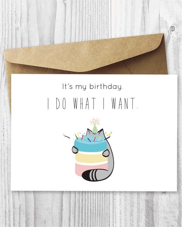 cat birthday card ideas