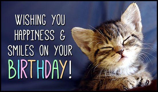 cat birthday card quotes