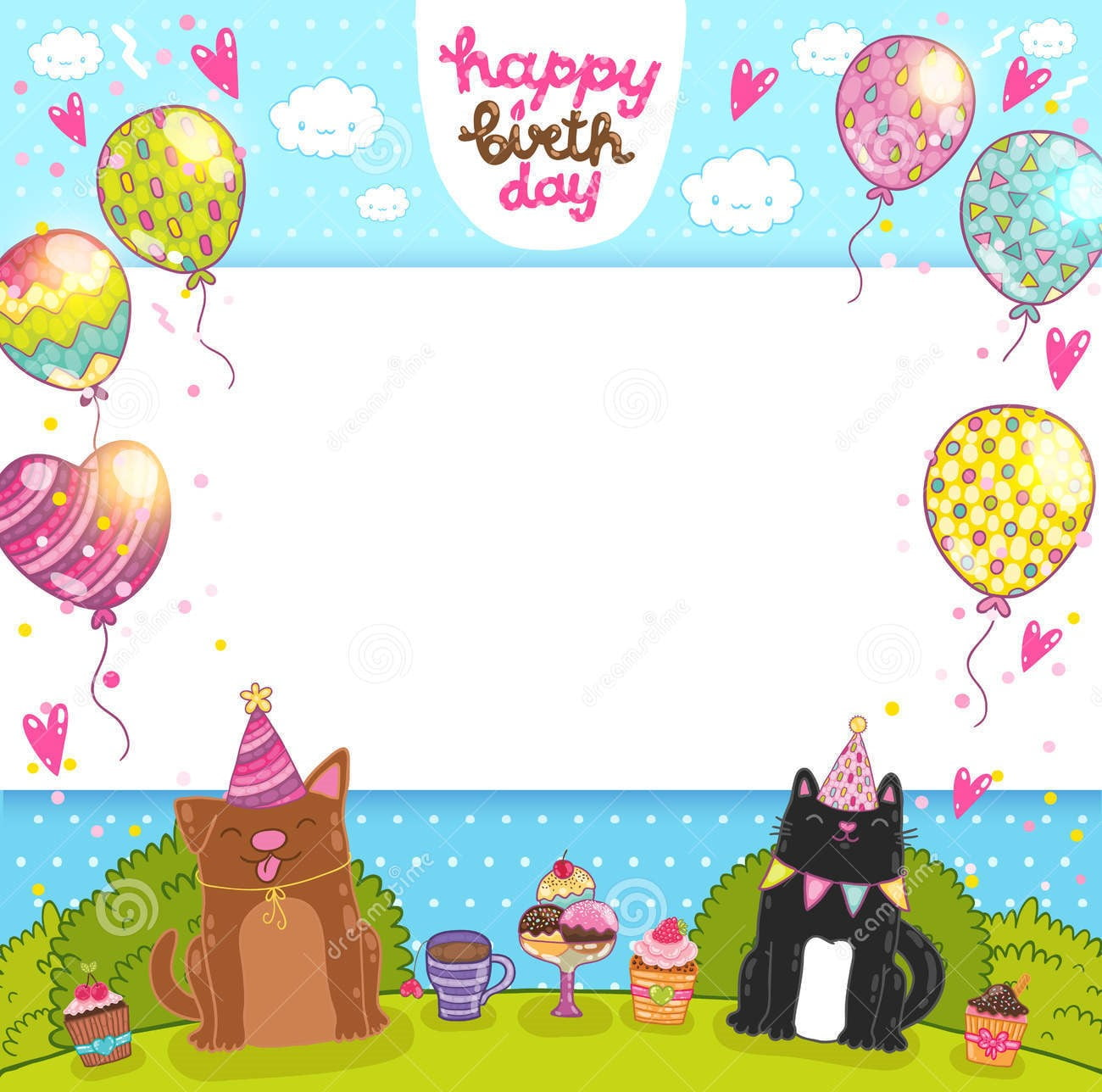cat birthday cards uk
