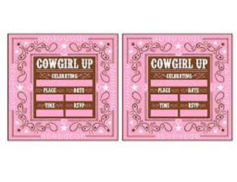 cowgirl birthday invitations free