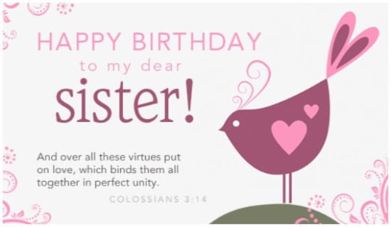 create birthday cards for sister