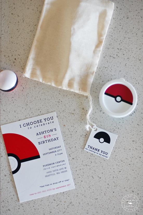 custom pokemon birthday invitations