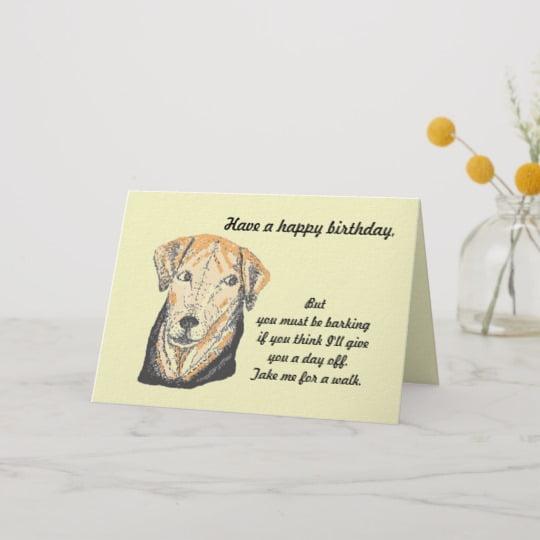 dog birthday card jokes