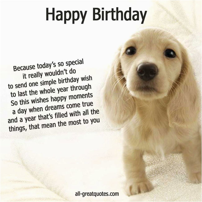 dog birthday card quotes