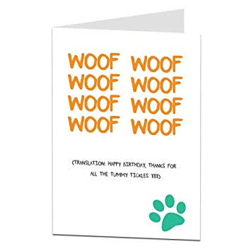 dog birthday card verses