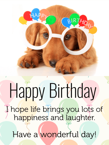 dog birthday cards online