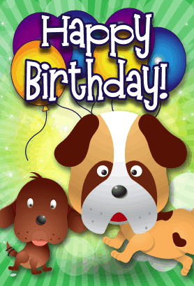 dog birthday cards printable free