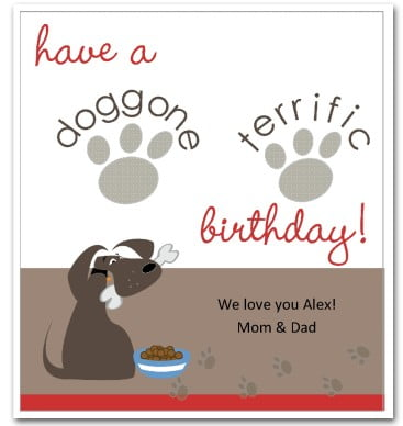 dog birthday cards to print