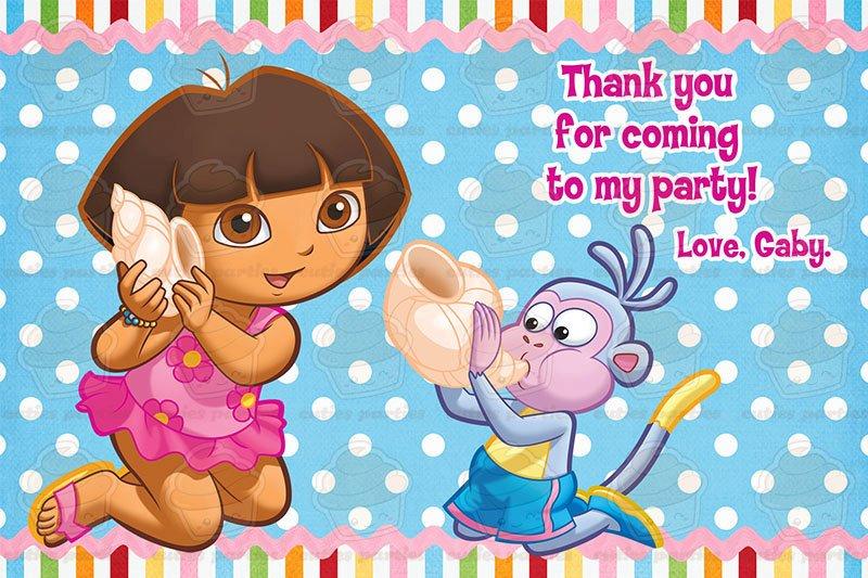 dora free birthday card printable