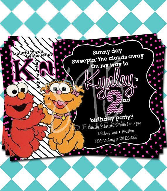 elmo and zoe birthday invitations