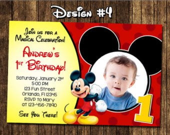 first birthday invitations boy mickey mouse