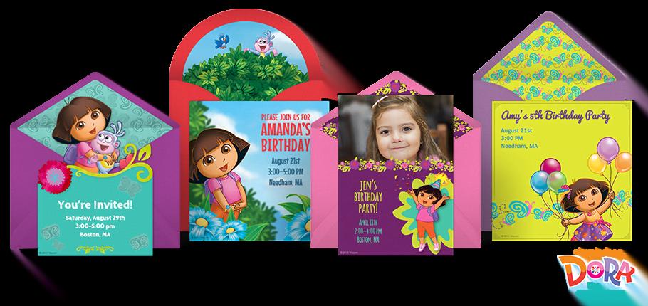 free dora birthday ecard