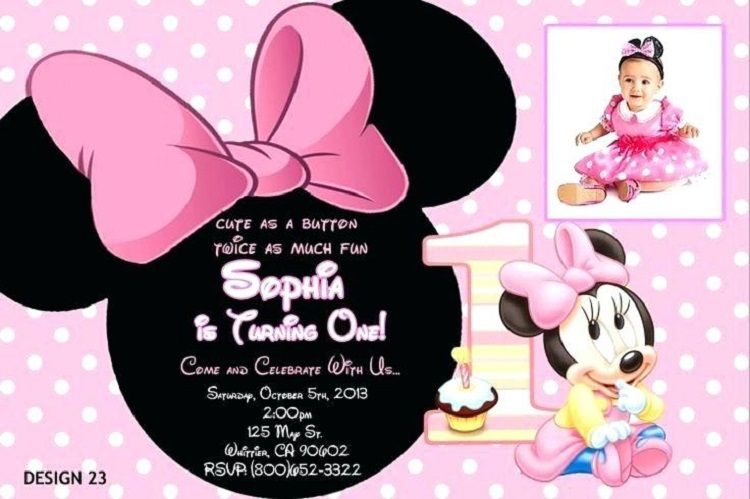 free minnie mouse first birthday invitation templates