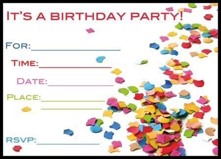 free printable birthday invitation card maker