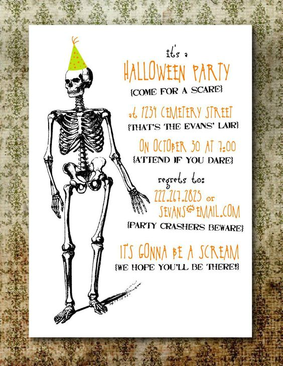 free printable halloween invitation maker