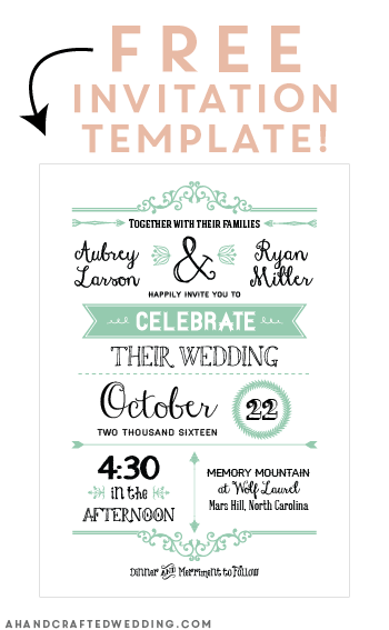free templates for wedding invitations to print