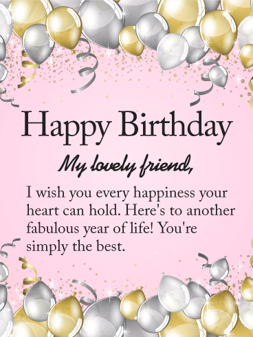 happy birthday card messages for best friend
