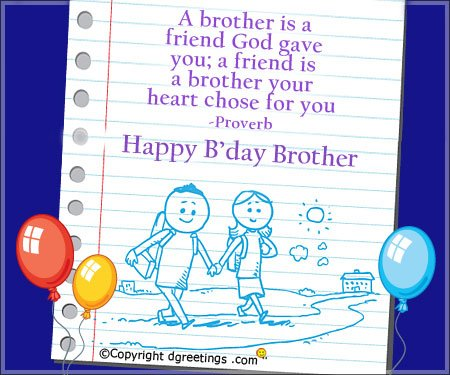 happy birthday card messages for brother