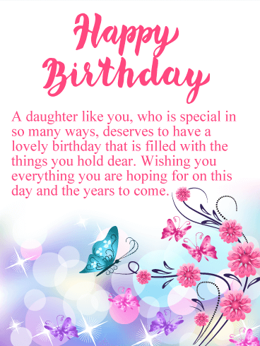 happy birthday cards for a daughter