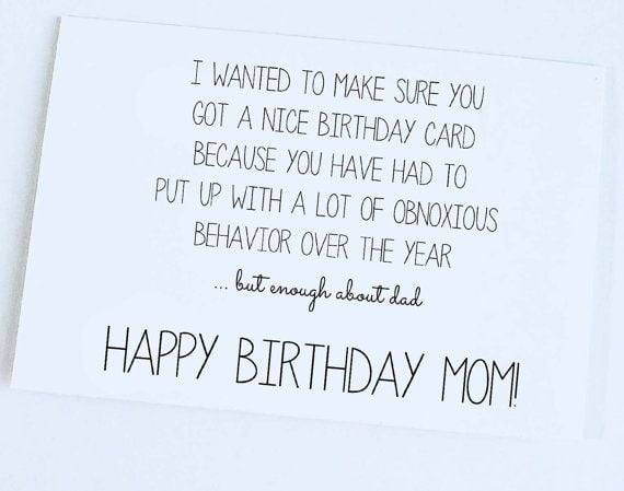 happy birthday cards for mom sayings