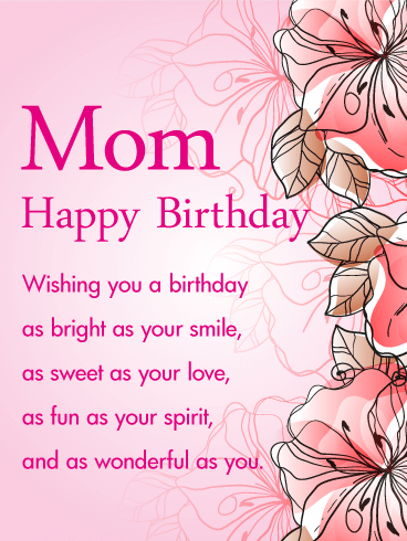 happy birthday cards for mom